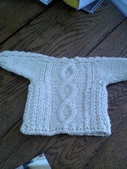 Alisa's FINISHED cardigan (back)