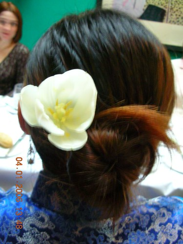 bloomed hair