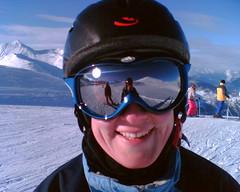 Jemima in her snowboarding gear
