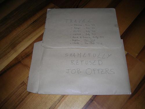 Envelopes...