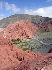 Red and Green mountains