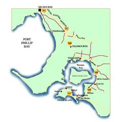 Jarak Philip Island dari Melbourne