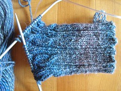 Rib and Cable socks beginning