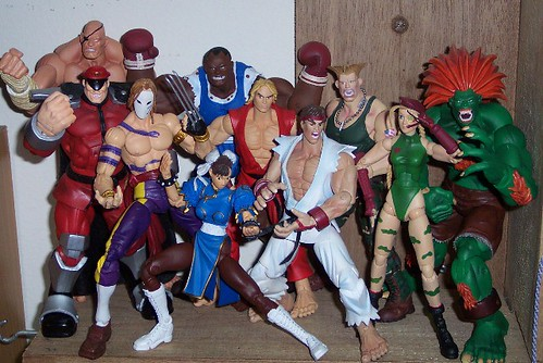 First up, my Street Fighter action figures. I'm on a quest to collect ...