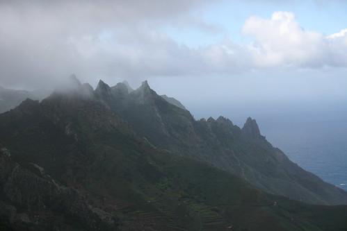 Jagged cliffs in the Anaga