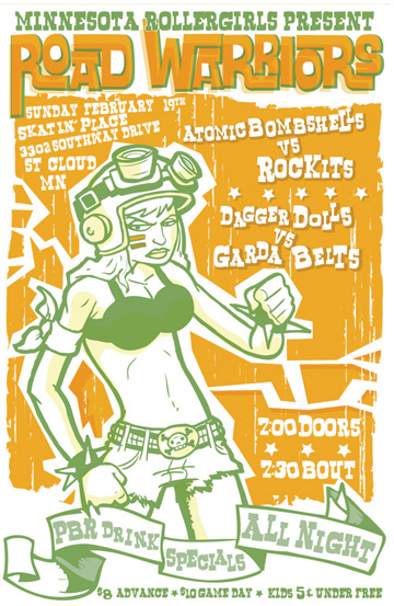 Minnesota RollerGirls exhibition bout poster