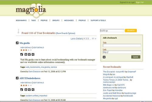 Ma.gnolia // Bookmarks