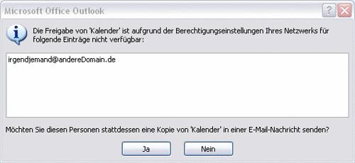 OutlookFreigabeFehler