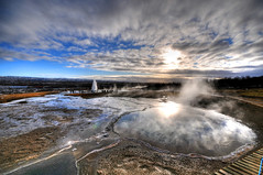 Blesi Hot Spring (and Strokkur Geyser) - Iceland photo by 5ERG10