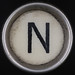 typewriter key letter N