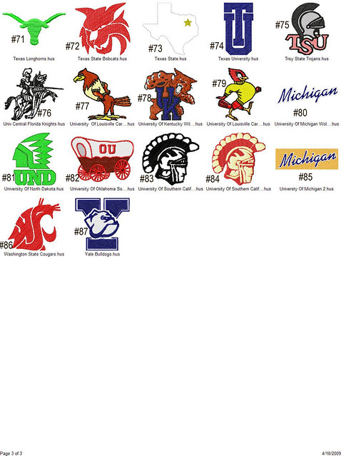 COLLEGE LOGO EMBROIDERY DESIGNS