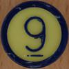 Colour Bingo yellow number 9