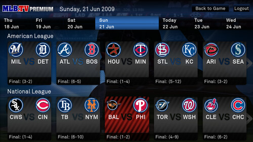 Boxee MLB.TV