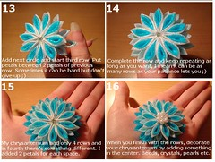 Kanzashi Tutorial: Chrysanthemum, 13-16 photo by Hatsu-chan^^