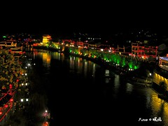 沱江夜色 Nightscape of Tuo River photo by Fiona ZH