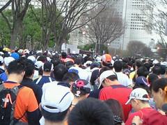 東京マラソン スタート待ち