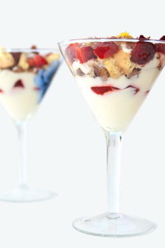 Десерт с клубникой и маскарпоне