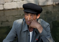 Man In Kaesong North Korea photo by Eric Lafforgue