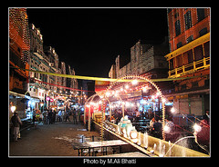 Food Street Lahore at Night photo by M.Ali Bhatti {trying to catch up with flickr}
