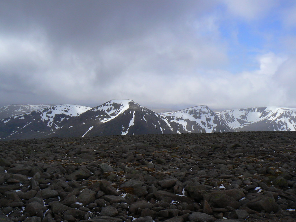 Cairn Toul and Braeriach from Macdui