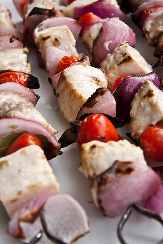 Grilling Swordfish Souvlaki
