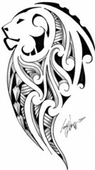 2D Maori/Lion photo by Tony @ 'Kirituhi Tattoo'