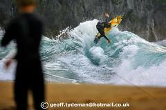 Tolcarne kick out. photo by Geoff Tydeman
