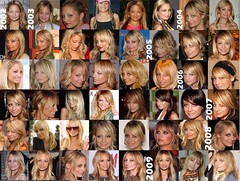Nicole Richie hairstyle timeline photo by raychylle