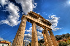 The Gate of Athena Archegetis to the Roman Forum in Athens, Greece photo by 5ERG10