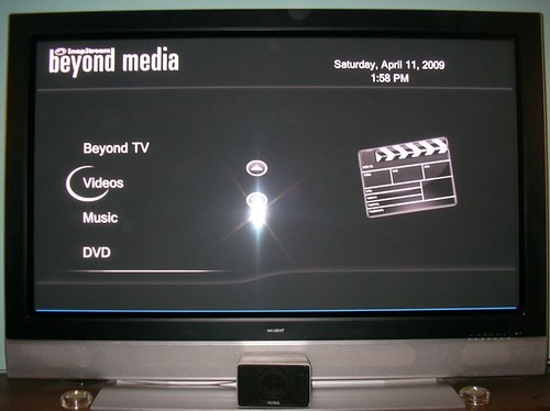 Snapstream's BeyondMedia with Metallic Black Theme