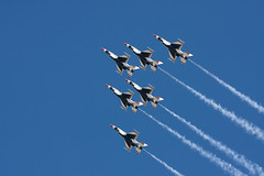 Thunderbirds at Hill AFB Airshow 2009