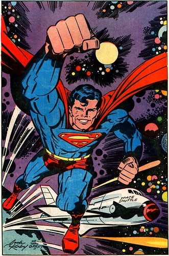 Superman 400 pinup by Jack Kirby