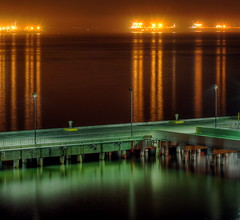Port of Long Beach at night photo by kevin dooley