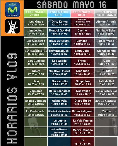 Cartel Horarios Vive Latino Horarios Del Vive Latino
