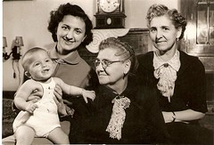 1953, women's four generations photo by elinor04 Thanks for 15,000,000+ views!