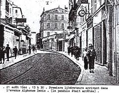 Provence- 1944 -Hyères- 21 aout 13 h 30- Arrivée des Libérateurs - Source  Pierre Tropet conservateur du Memorial de Hyères
