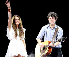 Nick Jonas and Miley Cyrus Singing Their New Duet Before the Storm at the Jonas Brothers Concert in Texas photo by i <3 nick jonas!!!