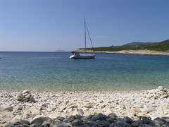 Srebrena beach on the island of Vis