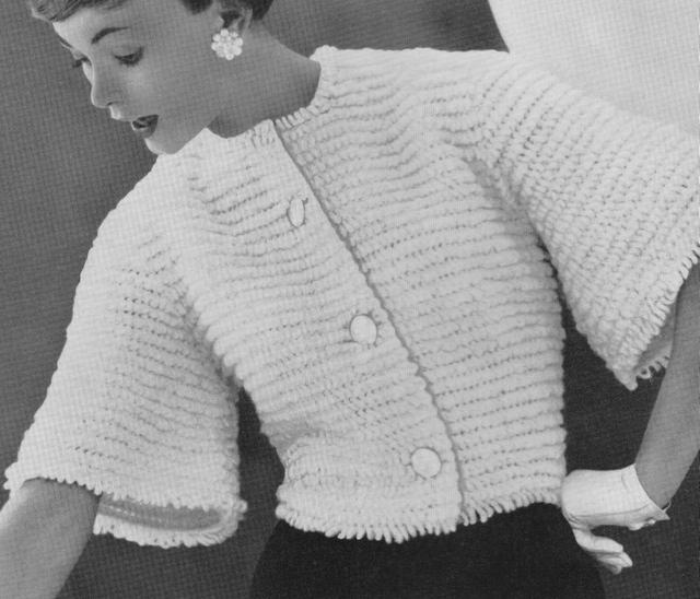Vintage Crochet Bolero Jacket Pattern PDF MADISON by suerock