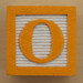 Educational Brick Letter O