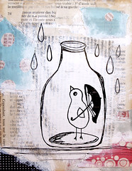 It's Raining Today - Original Mixed Media Painting photo by Ula~
