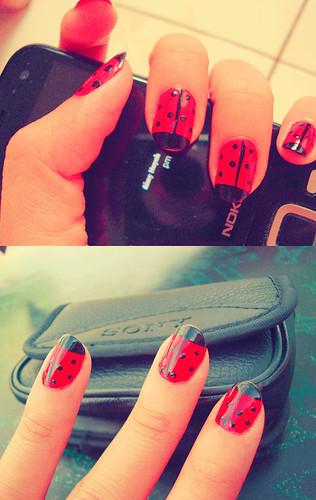 Girl Nail Designs Ladybug Nail Design For Girls