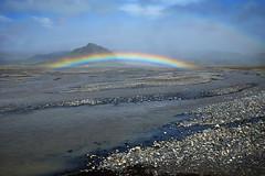 Double rainbow over icelandic landscape photo by marko.erman