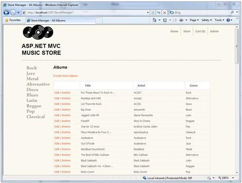 MVC Music Store - Admin
