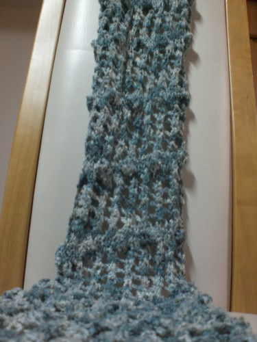 Knitted Bobble Scarf
