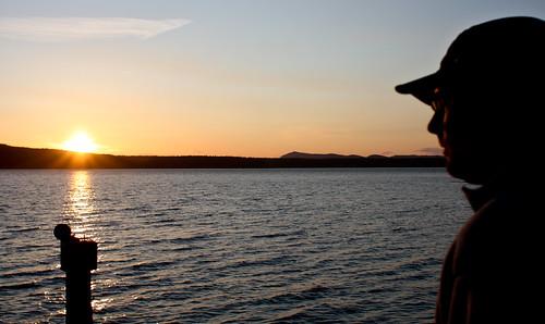 Sunset on West Beach, Orcas