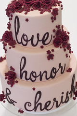 Love, Honor, Cherish Cake photo by studiocake