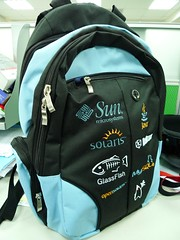 Backpack of Sun Java Two OpenSource Community Day