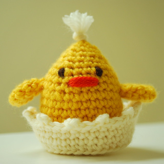 Three Crochet Chicks