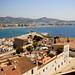 Ibiza - Casas,Baluarte de Sta Lucia , puerto y bah
